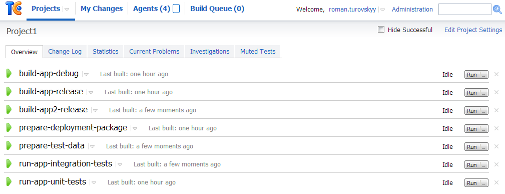 TeamCity – Supporting Multiple Branches of Source Code