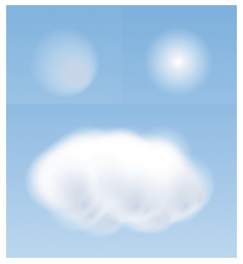 interactive generative art: clouds